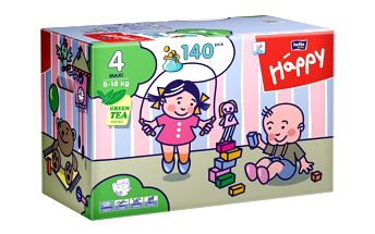 Plenky Bella Happy Maxi Big Pack - 140 ks s veselými obrázky
