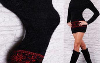 Černý dlouhý svetr Queen O.F.