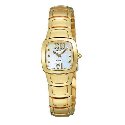 Dámské hodinky ve zlaté barvě Seiko