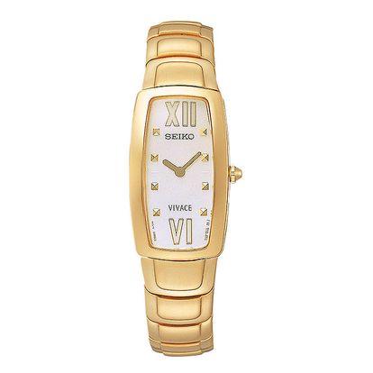 Dámské ocelové hodinky Seiko ve zlaté barvě