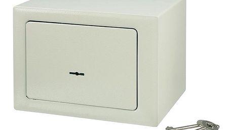 Kompaktní trezor 230 x 170 x 170 mm béžový Conrad Electronics - cennosti v bezpečí