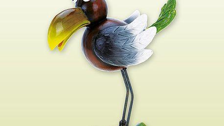 Dekorativní pták s kovovými nohami