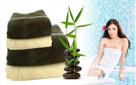 Sada ručníků a osušek ze 100% bambusového vlákna, ve kterých se budete cítit jako v bavlnce. Sada je kvalitní, antibakteriální, výborně sající. Dvě velké osušky a dva ručníky za báječných 1 495 Kč!!