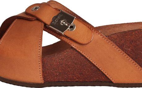 Kožené dámské sandály Elon od kvalitní značky Dr.Scholl - hnědé