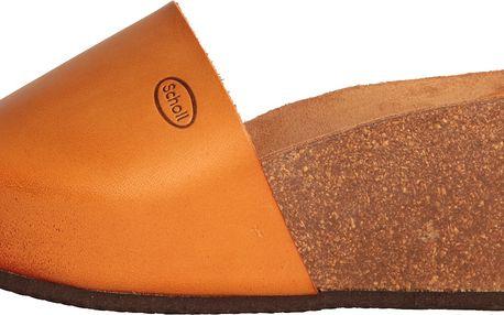 Oranžové dámské pohodlné sandály Dr.Scholl / Enigan na klínu