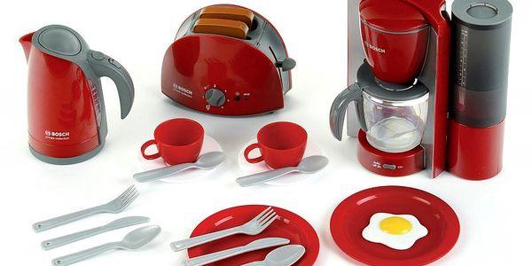 Klein Snídaňová sada Bosch - kávovar, rychlovarná konvice, topinkovač, talíře, šálky a příbory