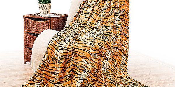 Deka s tygřím vzorem, 150 x 200 cm