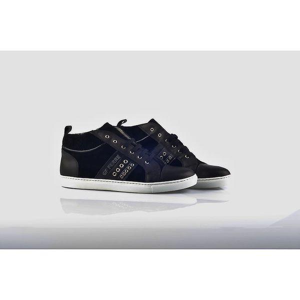 Dámské šněrovací boty s bílou podrážkou Gianfranco Ferré