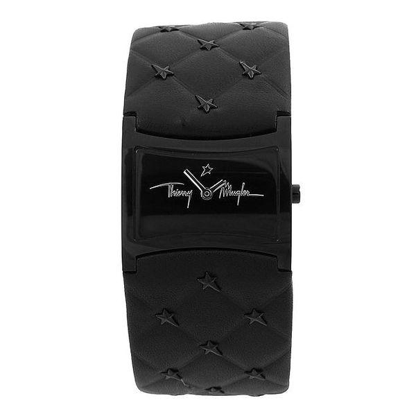 Dámské černé hodinky Thierry Mugler