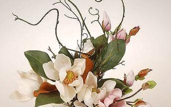 Aranžma magnolie v míse, 34 cm, HTH - elegantní design