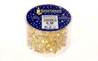 Řetěz mini s hvězdami, zlatý, 600 cm HTH