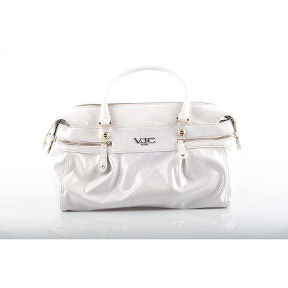 Dámská bílá lakovaná kabelka Versace