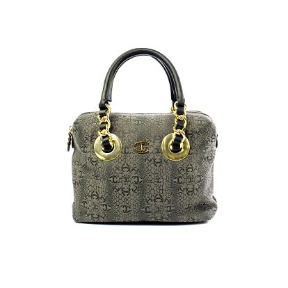 Dámská šedá kabelka se vzorem Just Cavalli
