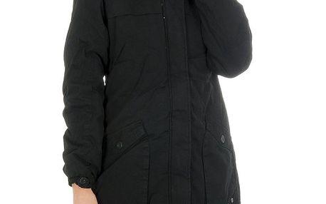 Dámský černý kabát s kožíškem Bench