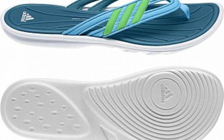 Dámské pantofle - Adidas KISTULLA SC W aqua/green/white