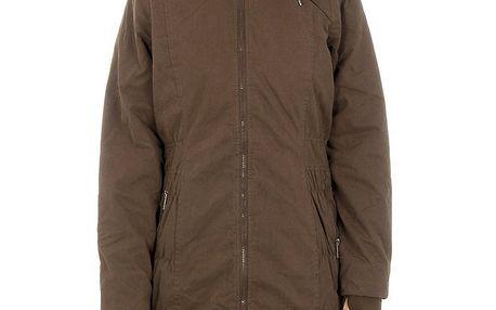 Dámský hnědý kabát Bench na zip