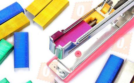 Barevné sponky do sešívačky - 4 barvy a poštovné ZDARMA! - 36902859