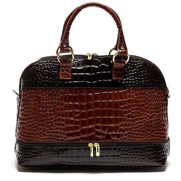 Dámská kožená kabelka v dvoubarveném provedení Luisa Vannini