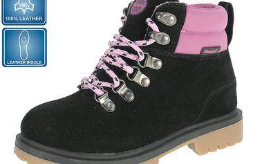Dámská černá obuv s růžovými detaily Beppi