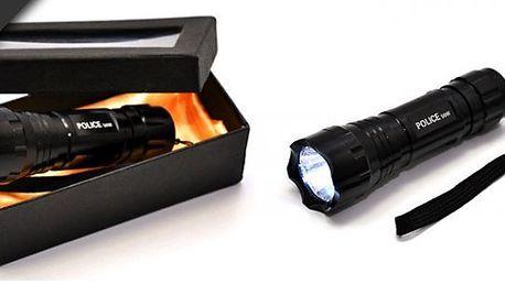 Taktickáduralová policejní baterka 50Wzajistí dokonalé světlo. Využijte přináhlém výpadku proudu, přinoční výměně kola automobilu,do dílny, nachalupu, pro camping, nebo jakoskvělý dárek.