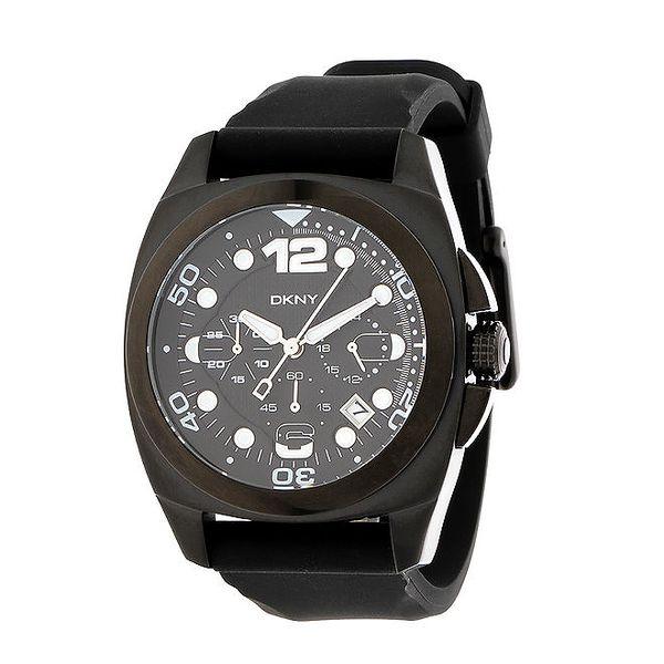 Dámské černé analogové hodinky DKNY