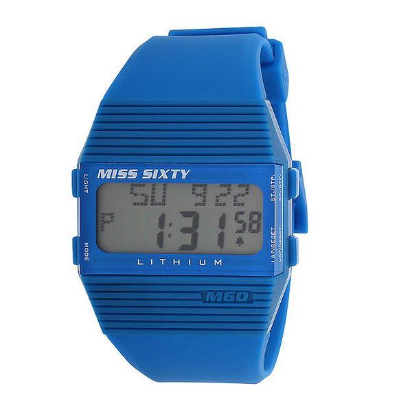 Dámské modré digitální hodinky s černými detaily Miss Sixty