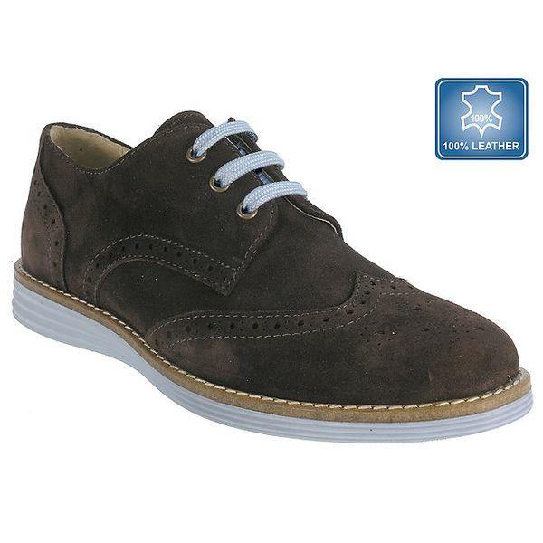 Dámské hnědé boty s perforací Beppi