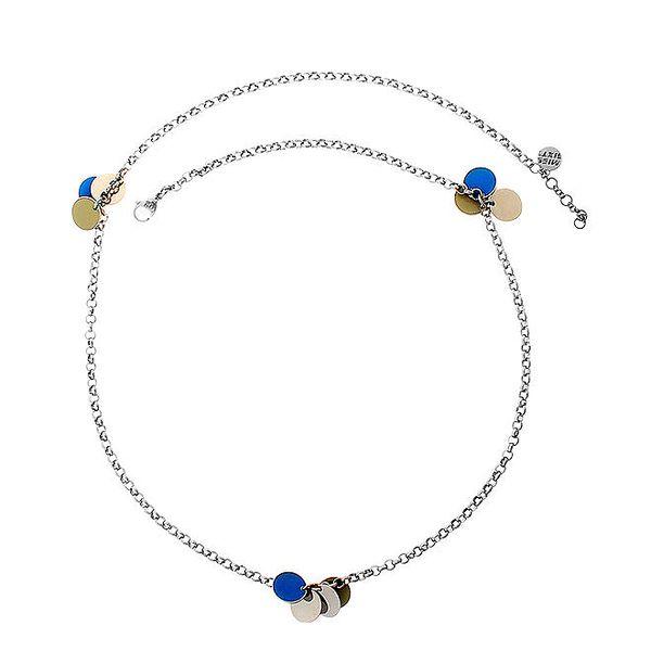 Dámský řetízek s modrými prvky Miss Sixty