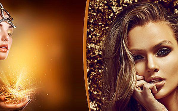 Luxusní kosmetické ošetření zlatem v délce 90 - 120 minut