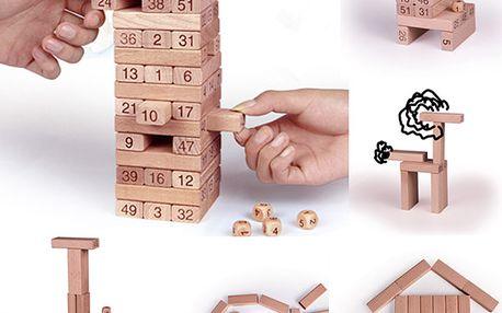 Společenská hra věž - kostky s čísly a poštovné ZDARMA! - 106925