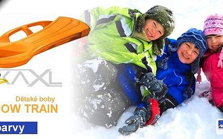 Zimní radovánky se blíží, mají Vaše děti na čem jezdit? Pořiďte jim kvalitní sportovní boby a hurá na kopec!Dětské boby SNOW TRAIN v několika barevných provedeních!
