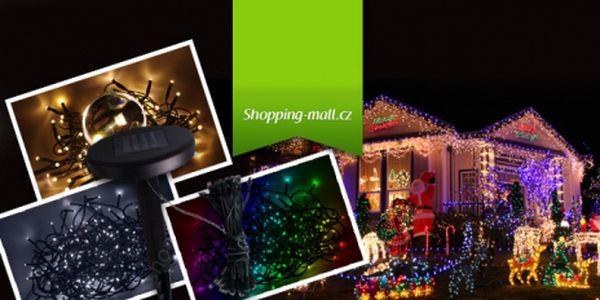 SOLÁRNÍ SVĚTELNÝ ŘETĚZ se 100 LED diodami a o délce 11 metrů za skvělých 490 Kč! Rozsvítí se automaticky při stmívání! Vyberte si ze TŘÍ BAREV a dodejte atmosféru Vánoc i Vaši zahradě a domu! Osobní odběr v Praze ZDARMA!