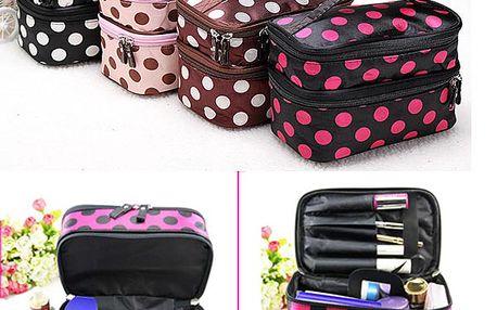 Kosmetický kufřík s puntíky - více barev a poštovné ZDARMA! - 606983
