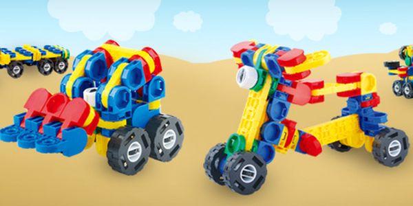 3D stavebnice pro procvičování zručnosti a logiky malých dětí (2 varianty)