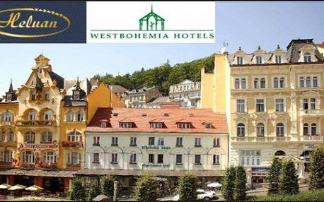 KARLOVY VARY centrum: Hotel Heluan*** - 3 dny s polopenzí, slevami a procedurou pro 2