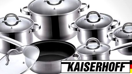 12dílná sada nerezového nádobí Kaiserhoff