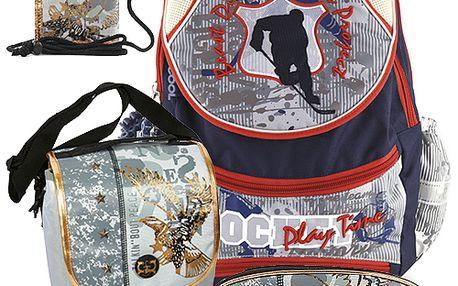 Školní batoh Cool set motiv Eagle: penál, peněženka, taška svačinářka