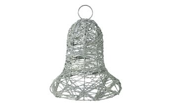 Kovový vánoční zvonek, stříbrný