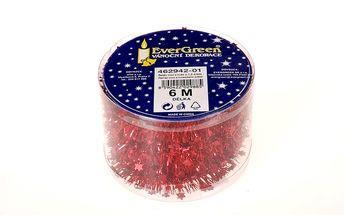 Řetěz mini s hvězdami, červený, 600 cm, HTH
