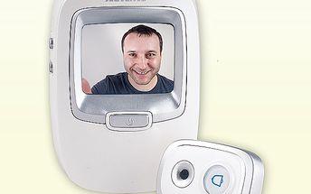 Zvonek s digitálním dveřním kukátkem a fotoaparátem Solight