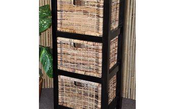 Dřevěná komoda Sylvana - 3 zásuvky