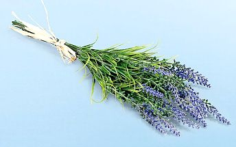 Uměla květina- svazek levandule modro-fialová