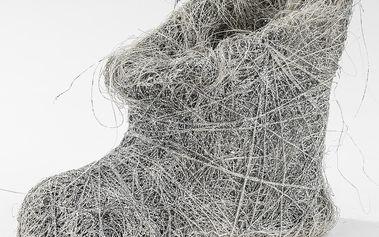Proutěná bota stříbrná
