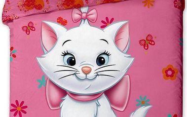 Jerry Fabrics dětské bavlněné povlečení Kočka Marie 2013, 140 x 200 cm, 70 x 90 cm
