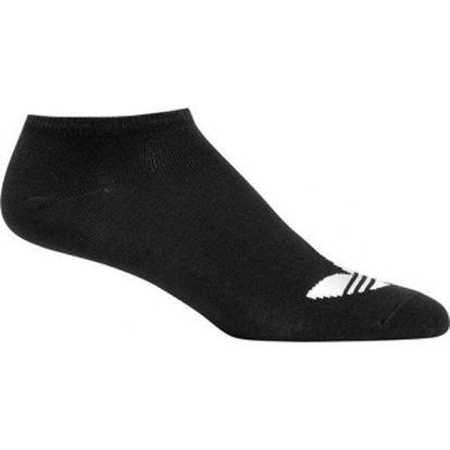 Unisex ponožky - adidas adicolor ankle sock black/white 35-38