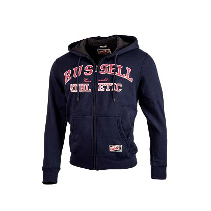 Pánská mikina s kapucí - russell athletic zip through hoody