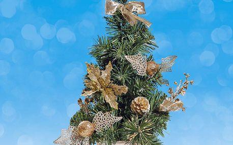Malý vánoční stromeček zlatý, 40 cm