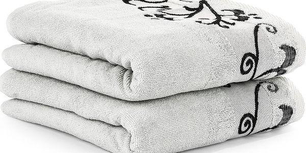 4Home sada ručníků Venera, sv. šedá, 50 x 90 cm, sada 2 ks