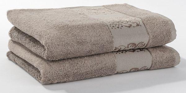 4Home bambusové ručníky capuccino, 50 x 90 cm, sada 2 ks