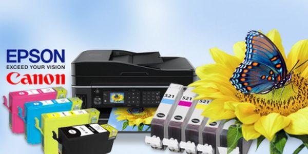 Sada náplní pro tiskárny EPSON a CANON již od skvělých 199 Kč včetně DOPRAVY! Catridge jsou 100% nové a elektronicky testované! Tiskněte levněji se slevou 51%!